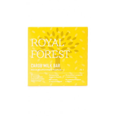 Шоколад из необжаренного кэроба Royal Forest 75 г